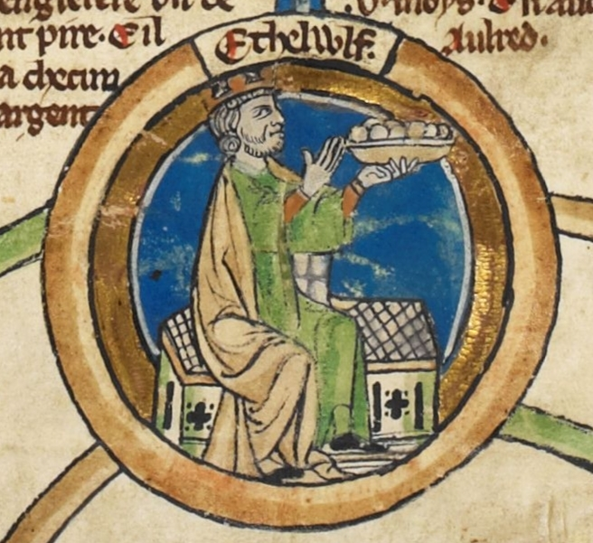 Fig. 1 Æthelwulf, King of Wessex 839-858 Genealogical Roll of the Kings of England.
