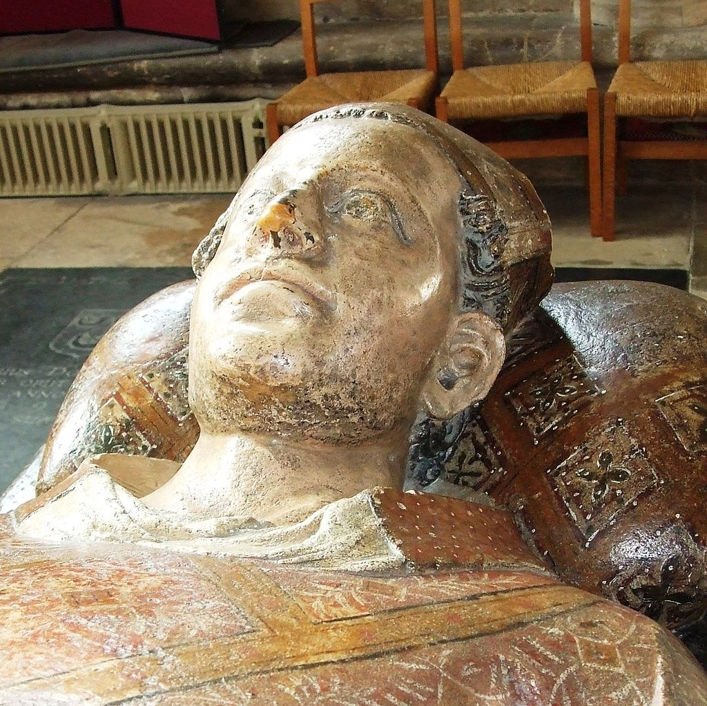 Fig. 8 Effigy of Bishop Drokensford (1309-1329), southeast transept, St. Katherine's Chapel, Wells Cathedral.