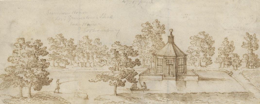 Water Garden, early 18th century, ink on paper, Credit_Garden Museum