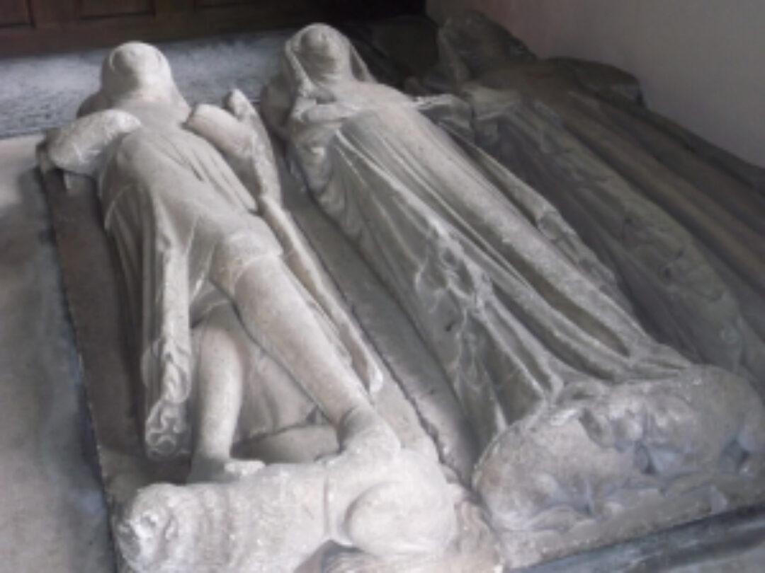 Fig 11 Effigies of Sir John de Meriet his two wives Combe Florey Church