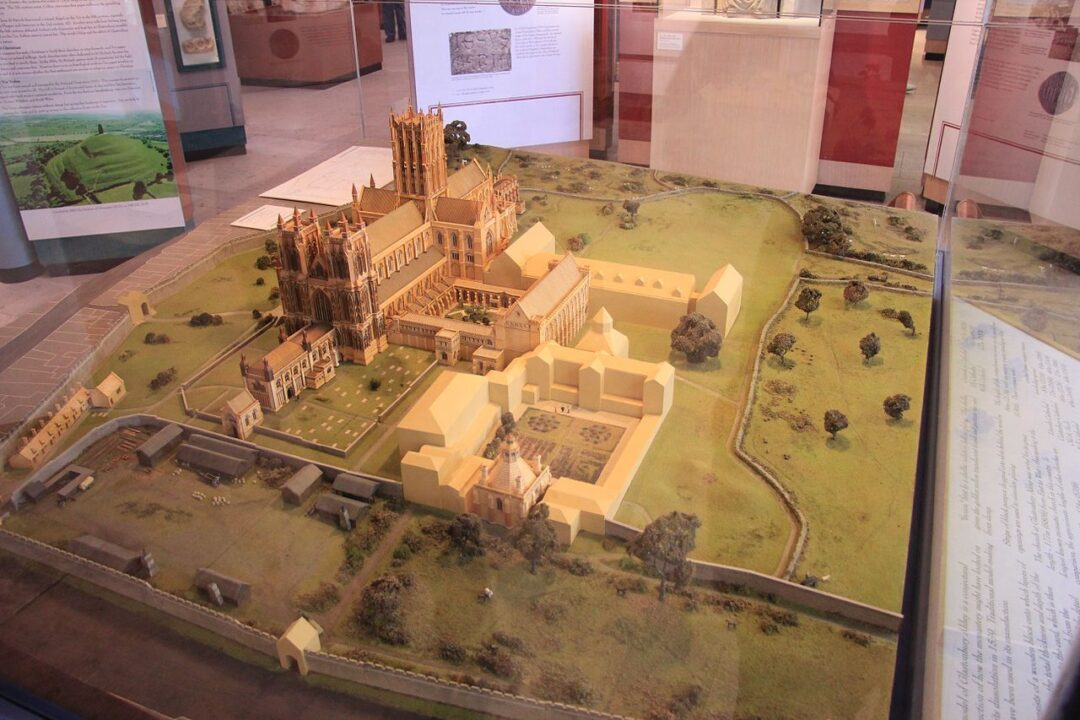 Fig 3 Model of Glastonbury Abbey 1539 Abbey Museum