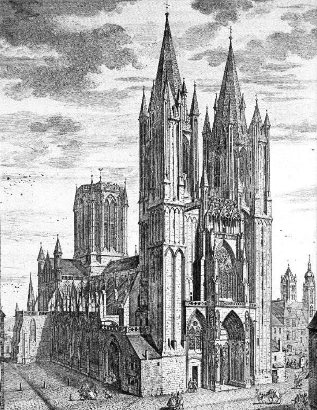 Fig 5 Coutances Cathedral 1747 incorporated the earlier Romanesque church