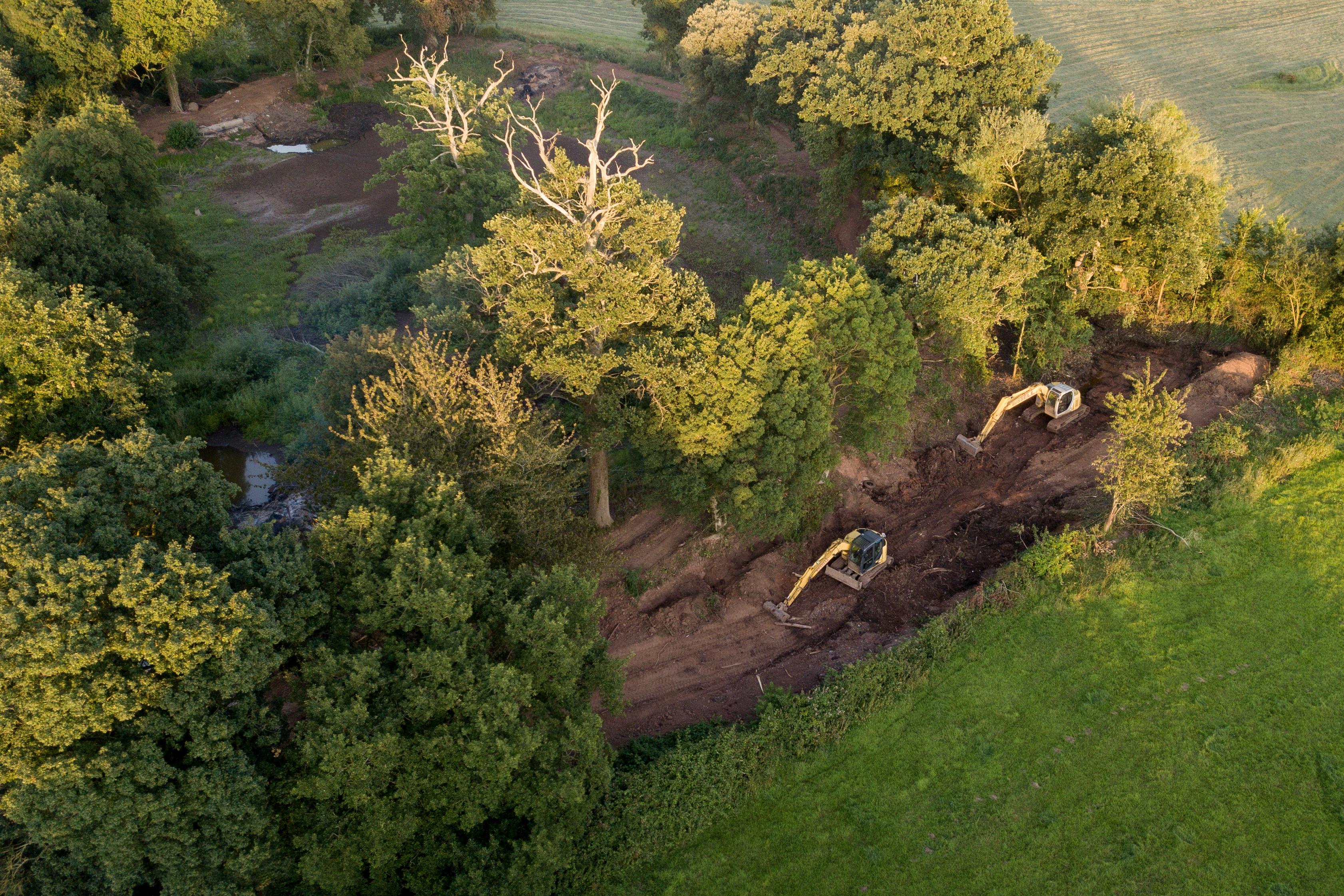 Restoration work taking place on the Water Garden. Photo: Pawel Porowski