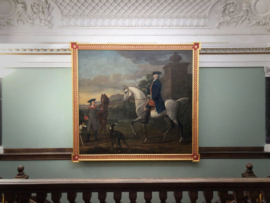 The magnificent equestrian self-portrait by Coplestone Warre Bampfylde and Richard Phelps, 1747 - part of the Bampfylde 300 celebrations at Hestercombe