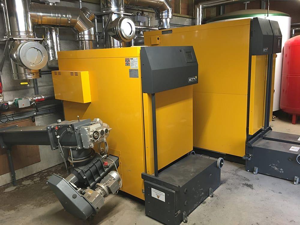 Hestercombe's Biomass boiler