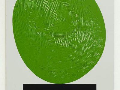 David Bachelor, Colour Chart Painting 33 (Green) 20.06.11, 2011
