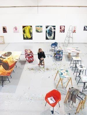 Image: Clare Woods in her studio