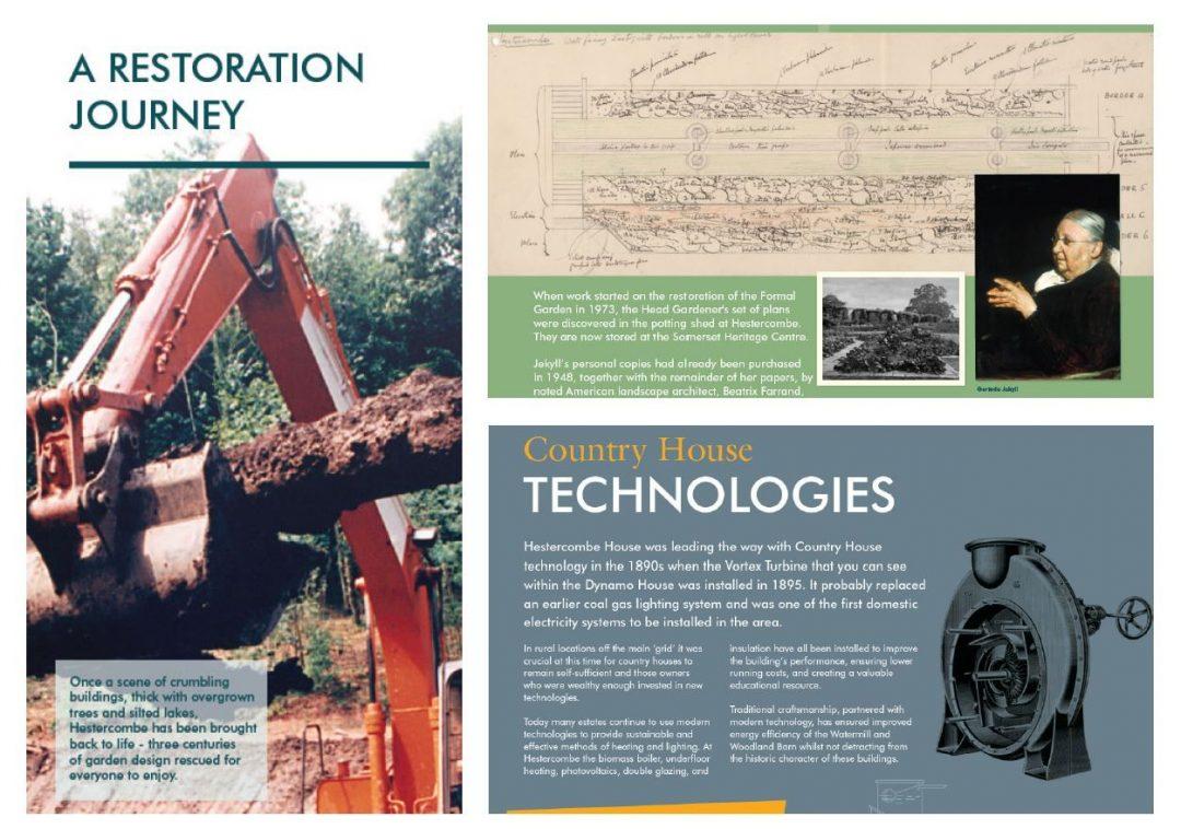 Hestercombe Heritage Interpretation Signage