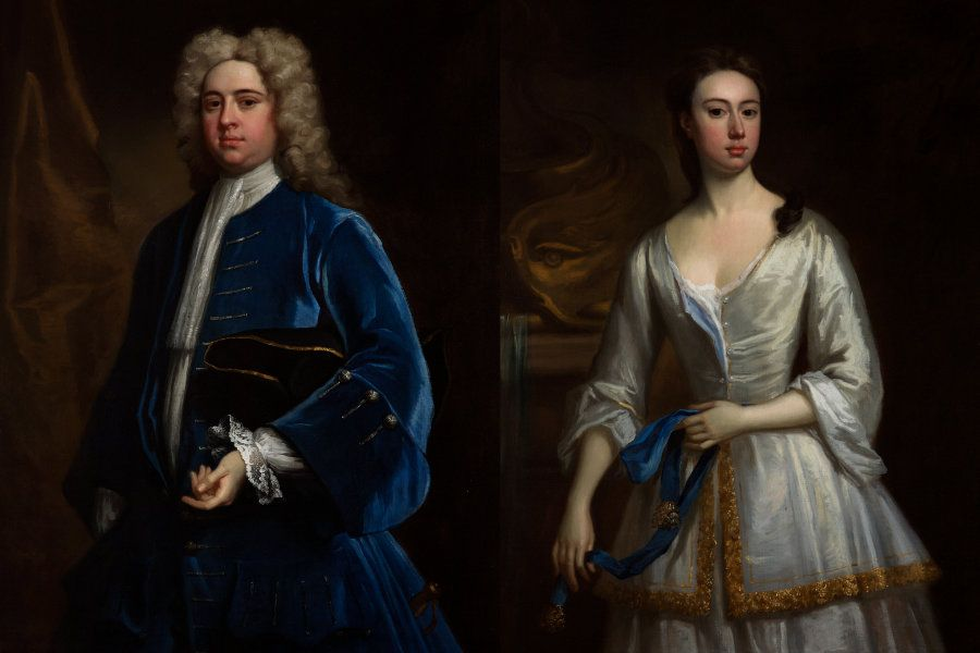 John Bampfylde (1691-1758) and Margaret Warre Bampfylde (1694-1758)