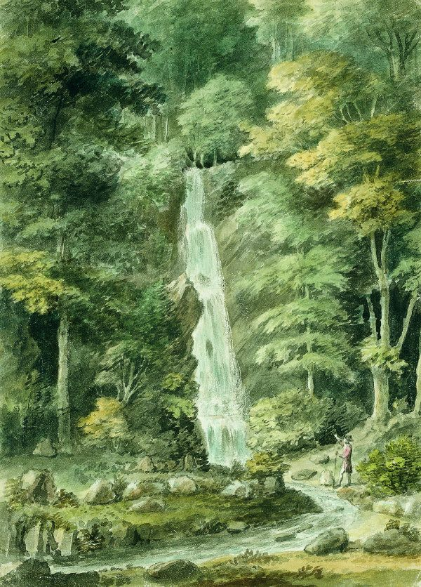The Great Cascade at Hestercombe, by C.W. Bampfylde, 1762