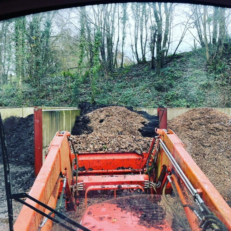 The compost bays at Hestercombe Gardens