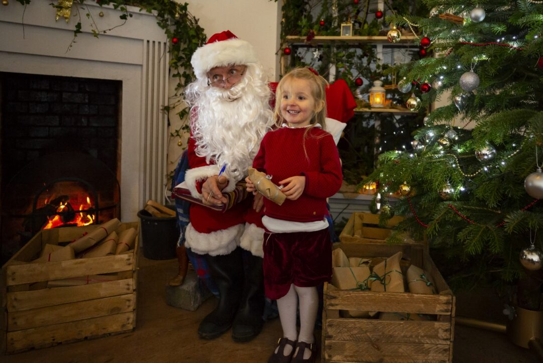 Father Christmas at Hestercombe visit somerset