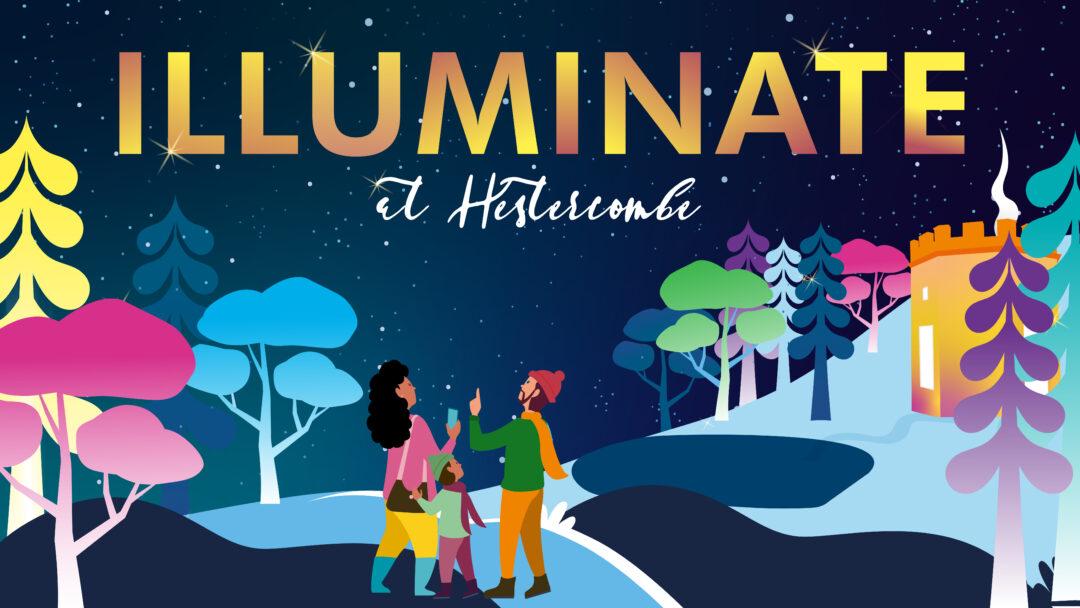 Illuminate Christmas illuminations hestercombe text