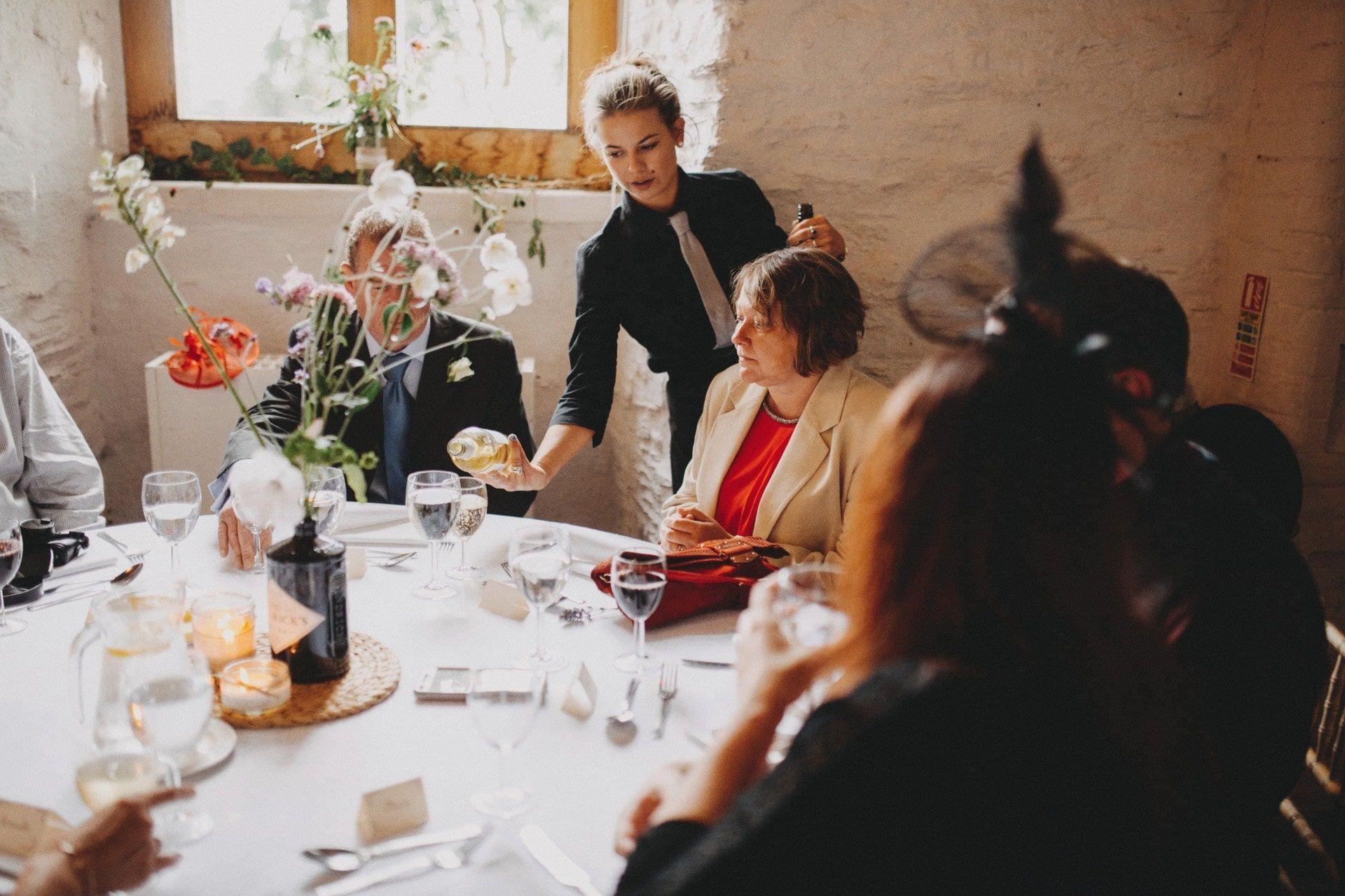 Wedding food at Hestercombe
