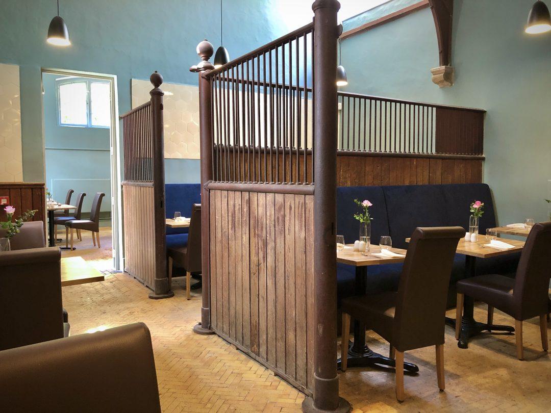 Stables Restaurant interior, Hestercombe Gardens ~ Food at Hestercombe