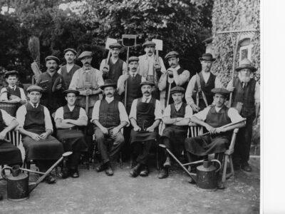 HGT 3 10 Hestercombe Gardens Grounds Staff April 1914