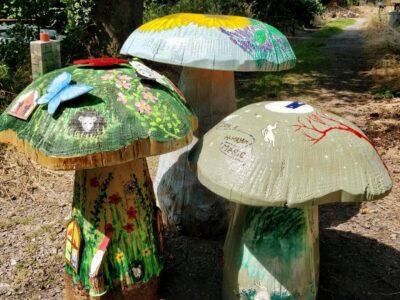 Mushroom Magic Trail toadstool auction at Hestercombe